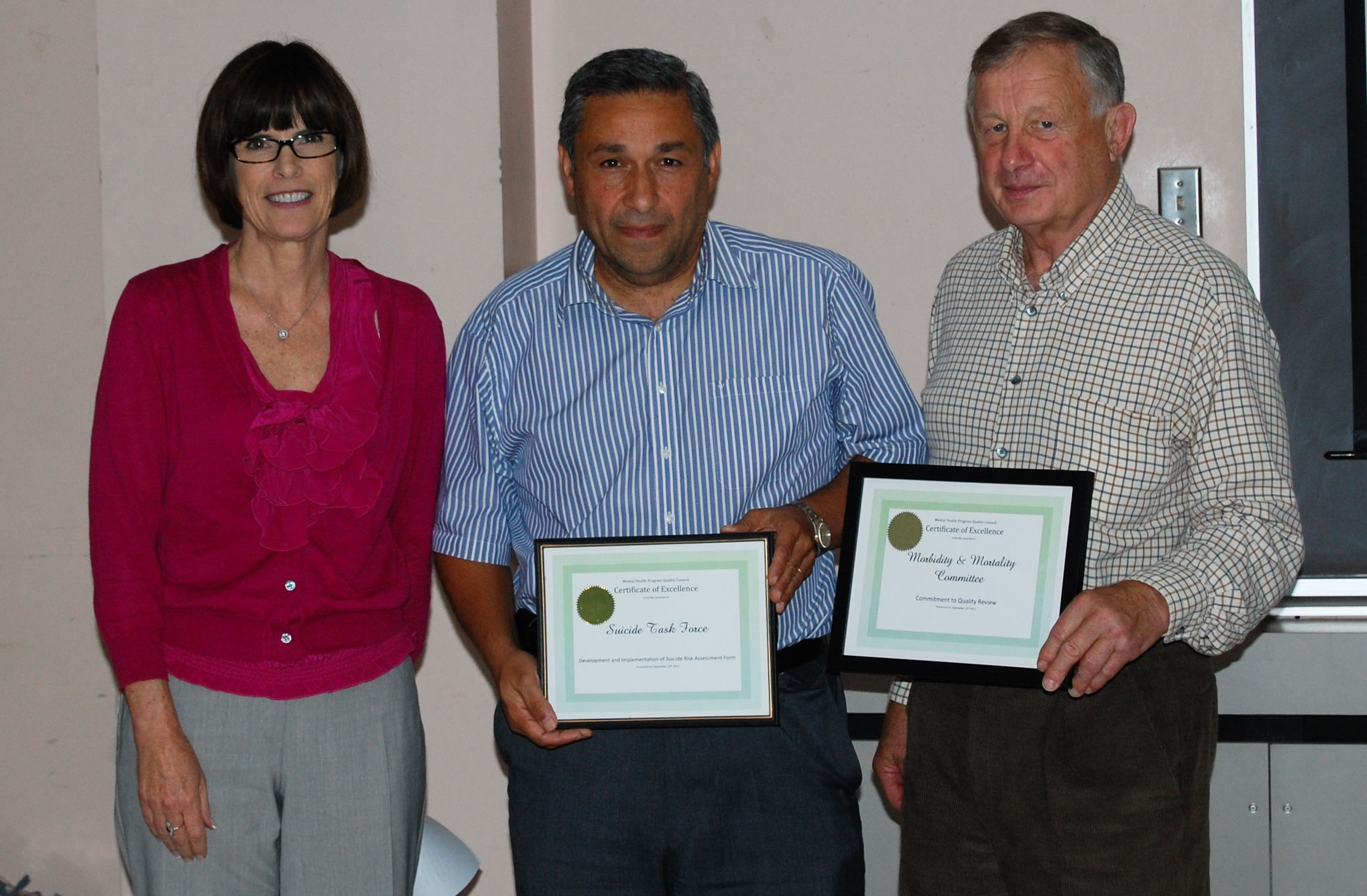 2012-09-24 Receiving 2 awards from NS health authority