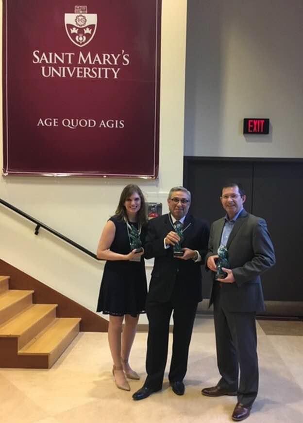 Receiving Saint Mary's University Alumeni Award