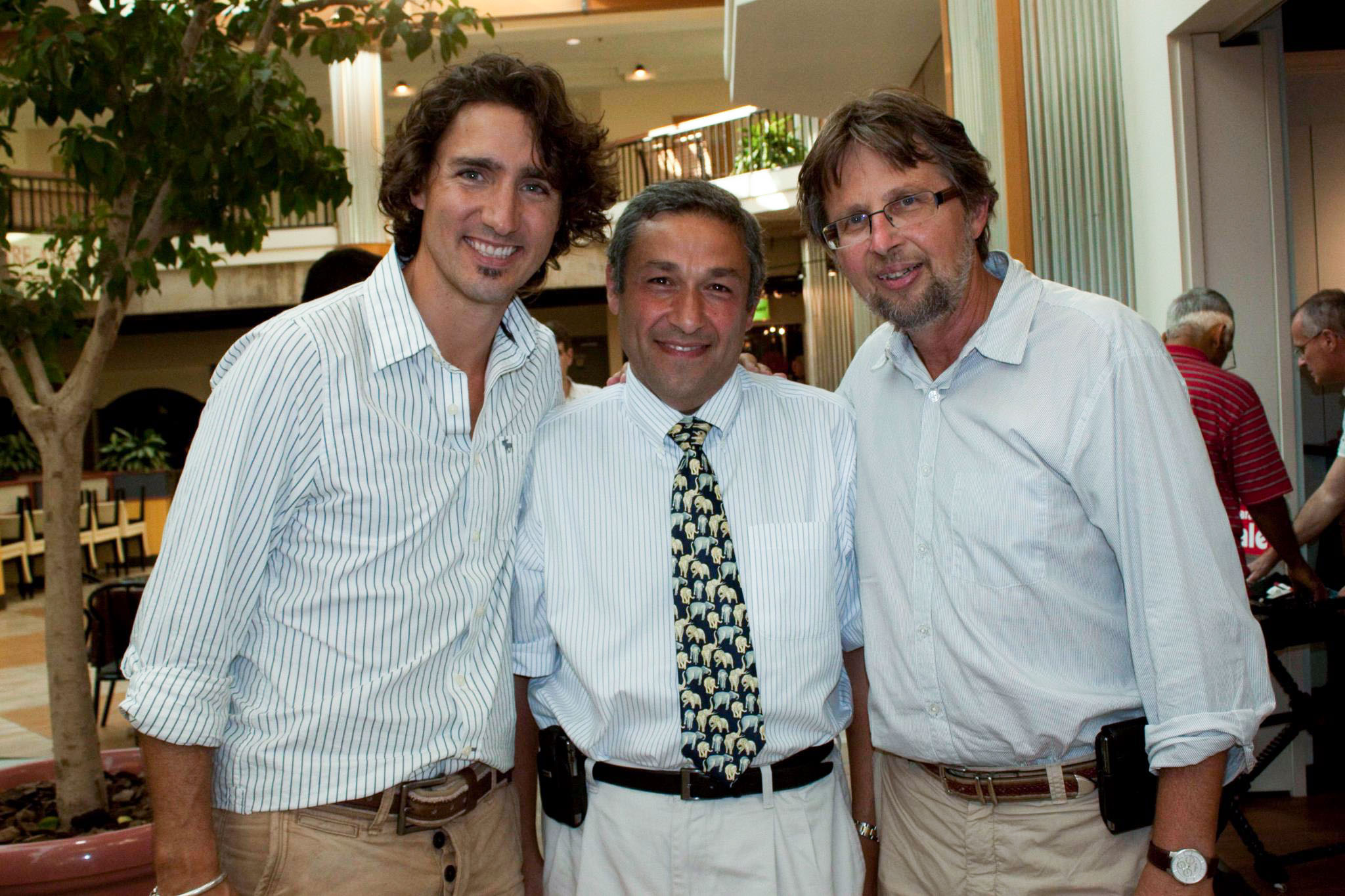 With Prime Minister Justin Trudeau and Senator Kutcher